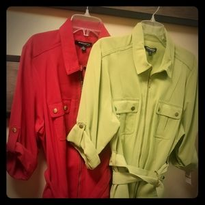 Ladies Red and Apple Green Sharagano Dresses (NEW)